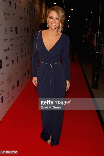 Kimberley Walsh attends the 16th Annual WhatsOnStage Awards at The Prince of Wales Theatre on February 21 2016 in London England