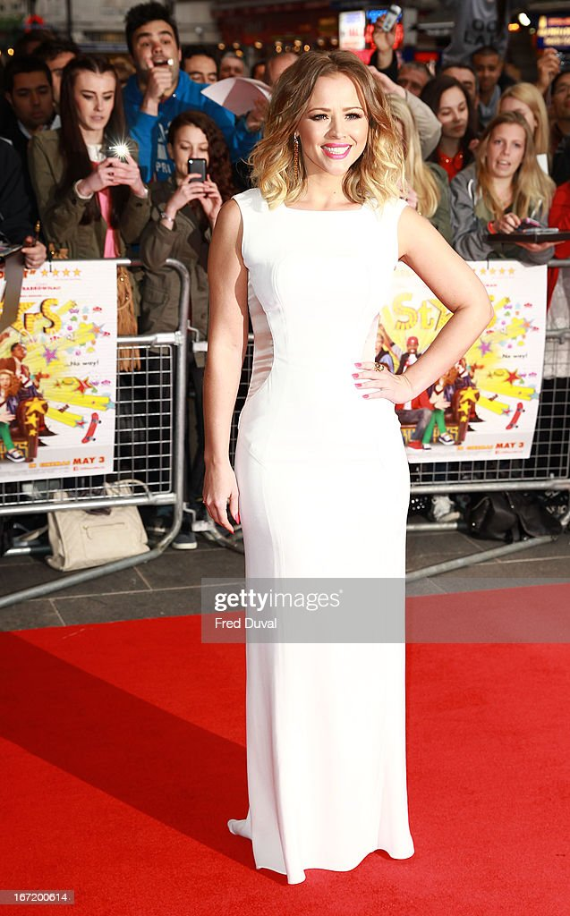 Kimberley Walsh attends the UK Premiere of 'All Stars' at Vue West End on April 22, 2013 in London, England.