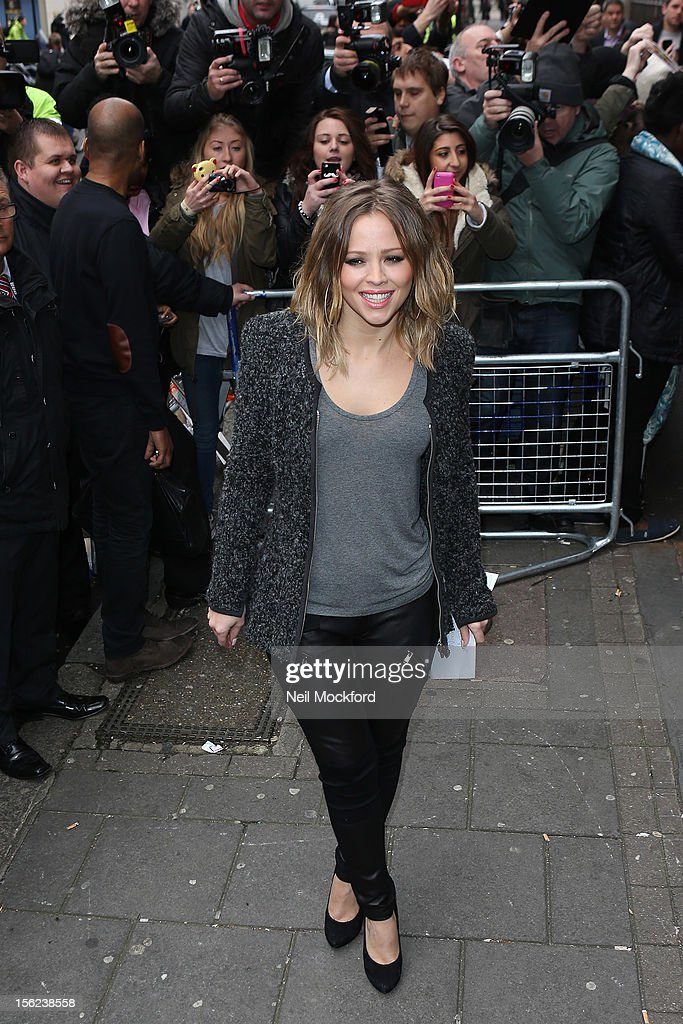 Kimberley Walsh from Girls Aloud seen at BBC Radio One on November 12, 2012 in London, England.
