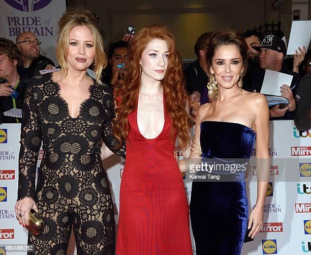 Kimberley Walsh Nicola Roberts and Cheryl FernandezVersini attend the Pride of Britain awards at The Grosvenor House Hotel on September 28 2015 in...
