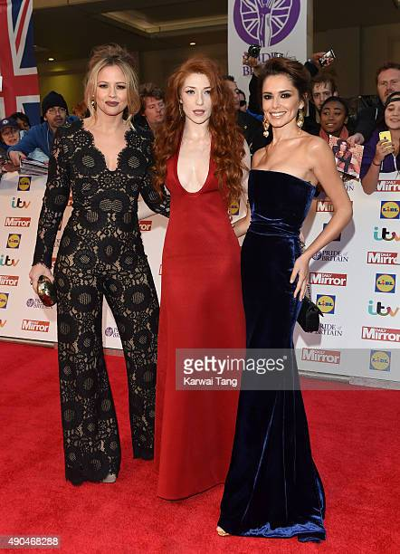 Kimberley Walsh Nicola Roberts and Cheryl FernandezVersini attend the Pride of Britain awards at The Grosvenor House Hotel on September 28 2015 in...