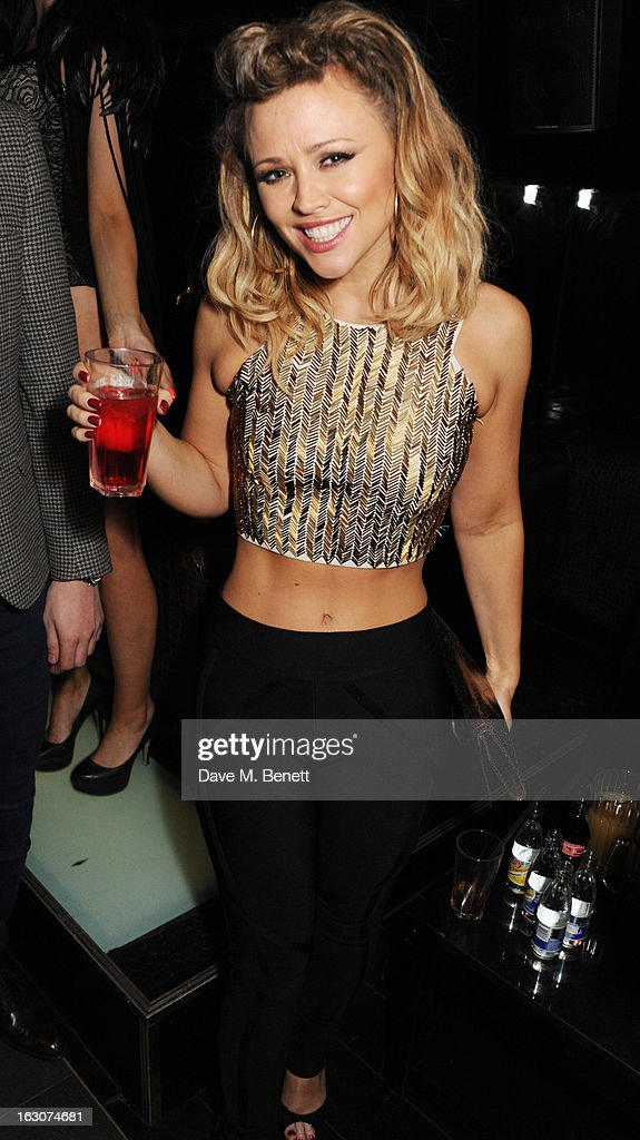 Kimberley Walsh of Girls Aloud attends their London Ten - The Hits Tour after party at Whisky Mist Club on March 02, 2013 in London, England.