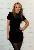 Kimberley Walsh opens New Look's flagship store on Oxford Street on February 5 2010 in London England