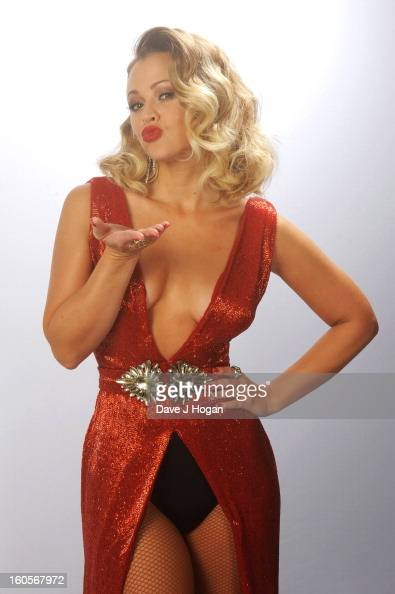 Kimberley Walsh poses backstage at GAY on January 3 2013 in London England