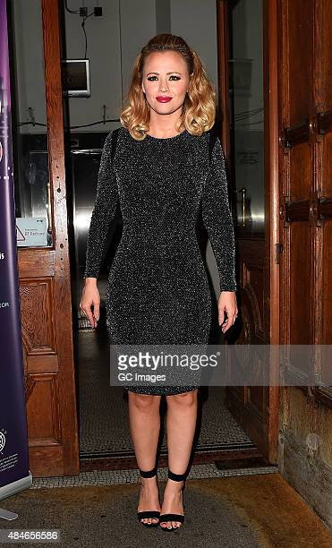 Kimberley Walsh seen after performing in 'Sweet Charity' at Cadogan Hall on August 20 2015 in London England