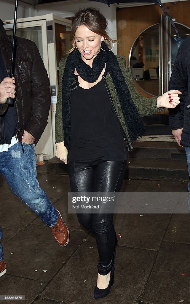 Kimberley Walsh seen at the BBC Maida Vale Studios on December 14, 2012 in London, England.