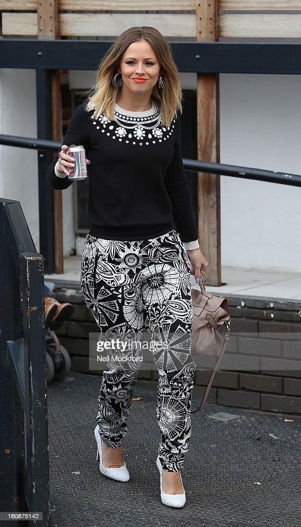 Kimberley Walsh seen at The ITV Studios after appearing on Loose Women on February 7, 2013 in London, England.