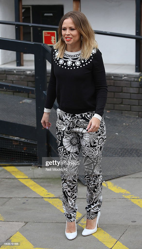 <a gi-track='captionPersonalityLinkClicked' href=/galleries/search?phrase=Kimberley+Walsh&family=editorial&specificpeople=202674 ng-click='$event.stopPropagation()'>Kimberley Walsh</a> seen at The ITV Studios after appearing on Loose Women on February 7, 2013 in London, England.