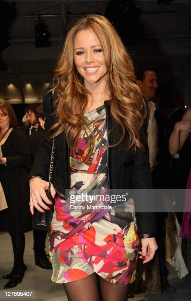 Kimberley Walsh seen on the front row at the Ashley Isham show at London Fashion Week Autumn/Winter 2011 on February 18 2011 in London England