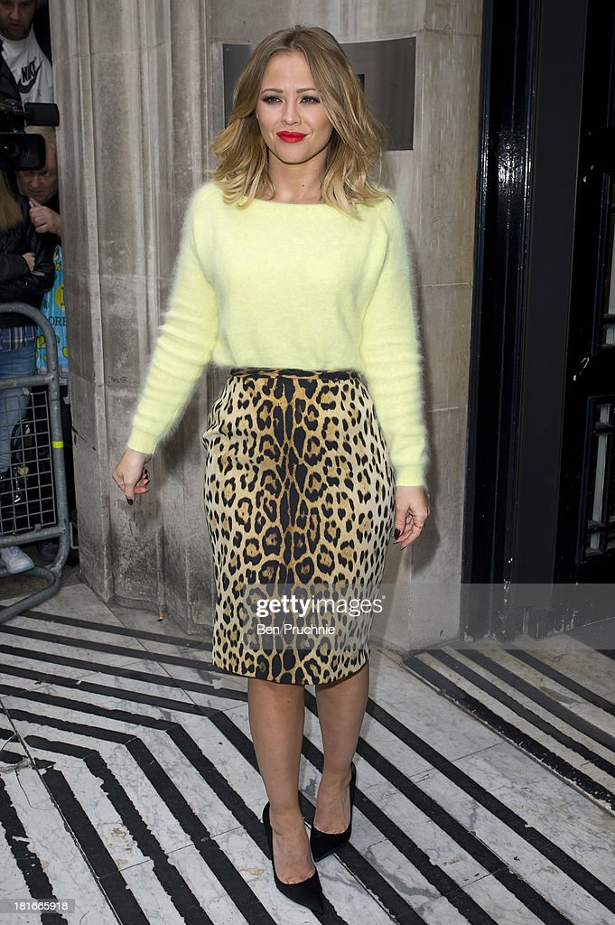 Kimberley Walsh sighted at BBC Radio 2 on September 23, 2013 in London, England.