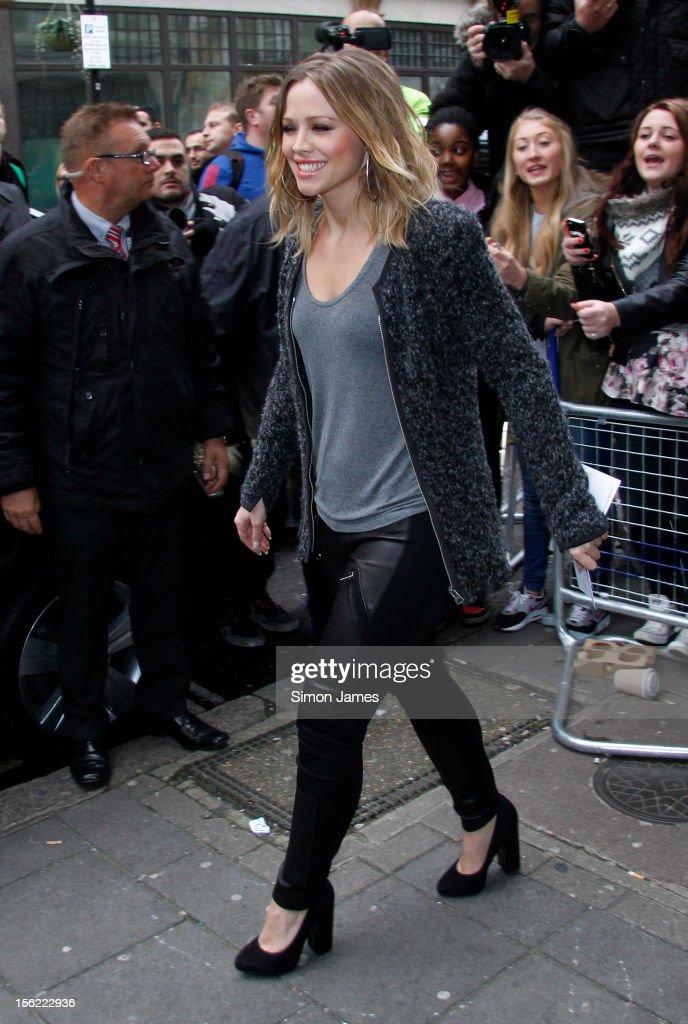 Kimberley Walsh sighting on November 12, 2012 in London, England.