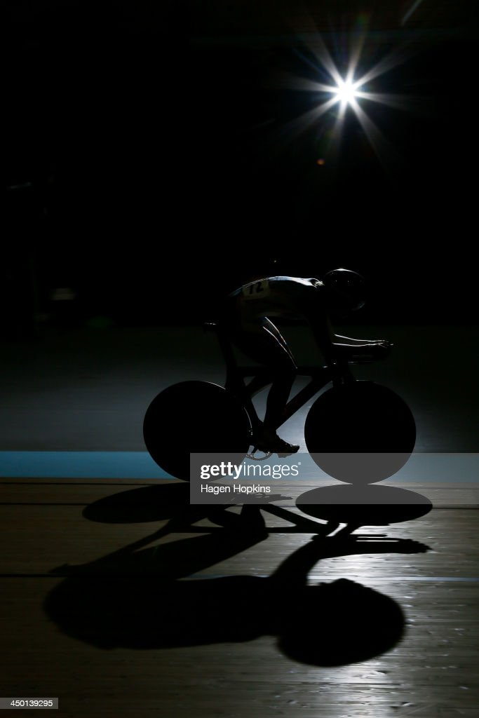 Kimberley Wells of Fearless Femme competes in the women's omnium during the 2013 UCI Festival of Speed at SIT Zerofees Velodrome on November 17, 2013 in Invercargill, New Zealand.