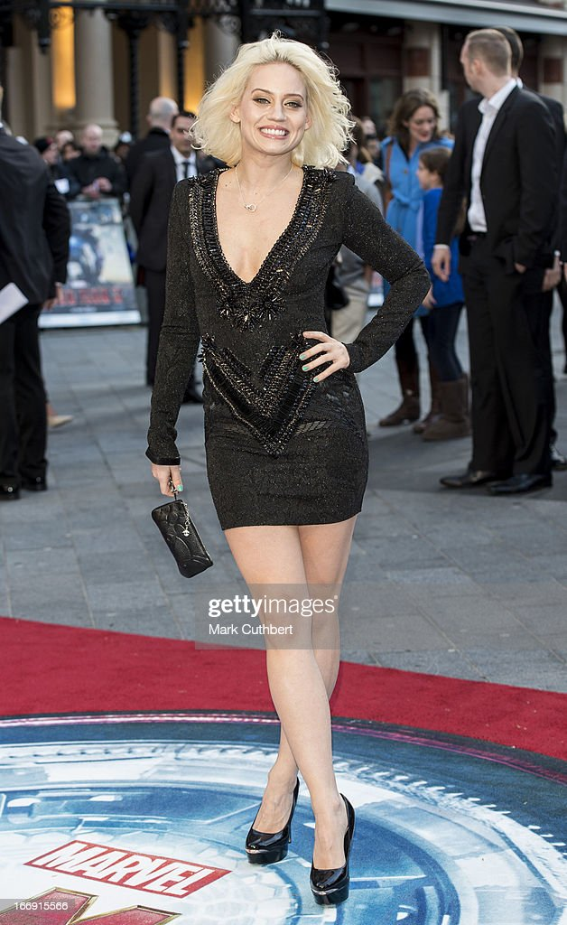 Kimberley Wyatt attends a special screening of 'Iron Man 3' at Odeon Leicester Square on April 18, 2013 in London, England.
