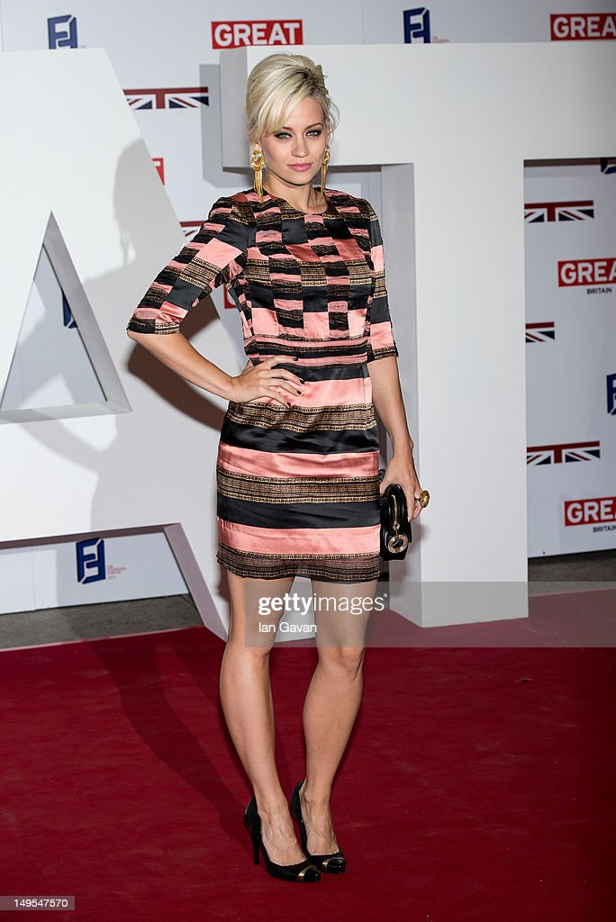 Kimberley Wyatt attends the UK's Creative Industries Reception at the Royal Academy of Arts on July 30, 2012 in London, England.