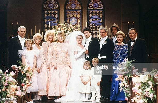 LIVES 'Kimberly Brady Shane Donovan Wedding' Pictured Frank Parker as Shawn Brady Christie Clark as Carrie Brady Reed Peggy McCay as Caroline Brady...
