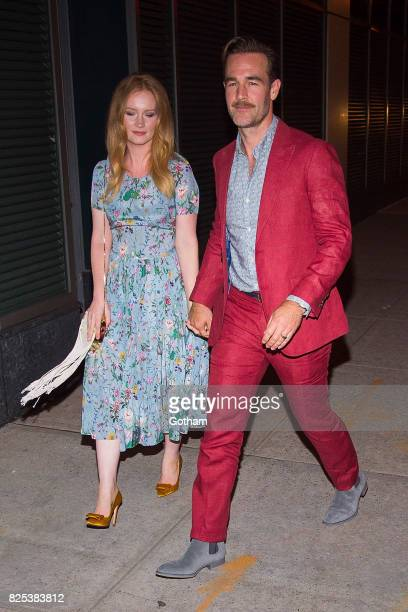 Kimberly Brook and actor James Van Der Beek are seen in SoHo on August 1 2017 in New York City