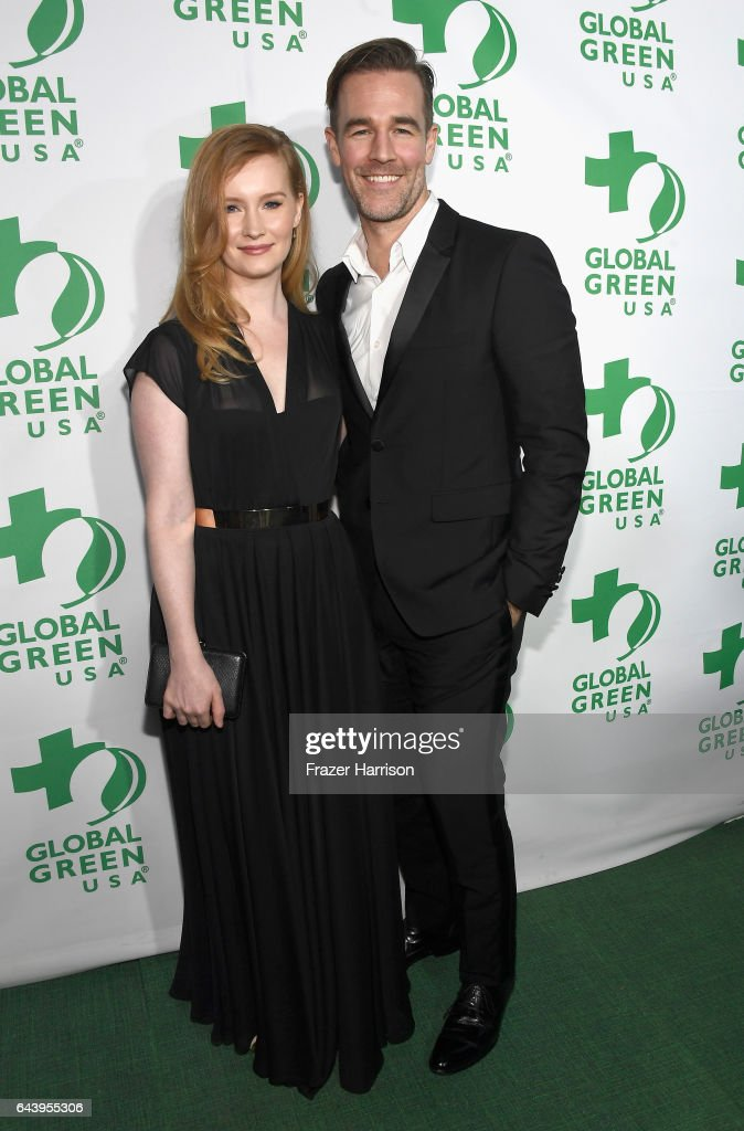 Kimberly Brook and actor James Van Der Beek attend the 14th Annual Global Green Pre Oscar Party at TAO Hollywood on February 22, 2017 in Los Angeles, California.