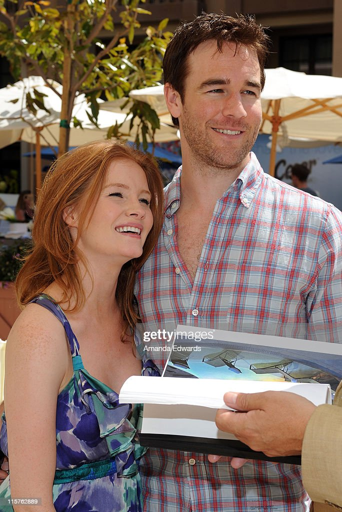 Kimberly Brook (L) and <a gi-track='captionPersonalityLinkClicked' href=/galleries/search?phrase=James+Van+Der+Beek&family=editorial&specificpeople=539017 ng-click='$event.stopPropagation()'>James Van Der Beek</a> attend the Kari Feinstein MTV Movie Awards Style Lounge held at Montage Beverly Hills on June 4, 2010 in Beverly Hills, California.