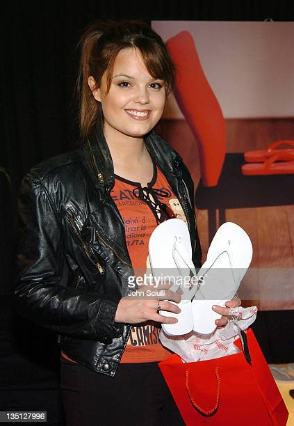 Kimberly Brown at Havaianas during Red Carpet '05 Oscar Suite Day Four at Pacific Design Center in West Hollywood California United States