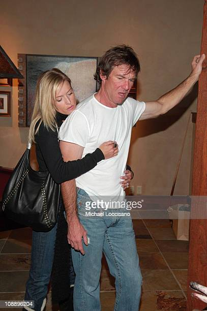 Kimberly Buffington and Dennis Quaid at The North Face House *Exclusive Coverage*