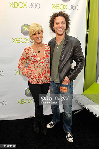 Kimberly Caldwell and Justin Guarini attend the Xbox 360 Gift Suite In Honor Of The 51st Annual Grammy Awards held at Staples Center on February 7...