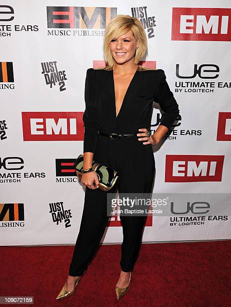 Kimberly Caldwell arrives at the 2011 EMI Grammys After Party held at Milk Studios on February 13 2011 in Hollywood California