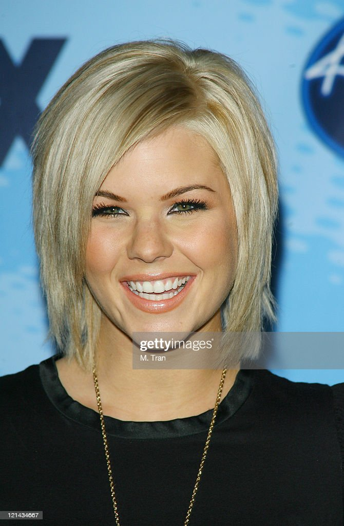Kimberly Caldwell during American Idol Celebrates the Top 12 Contestants at Astra West Pacific Design Center in West Hollywood California United...