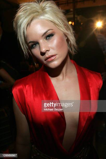 Kimberly Caldwell during LA Fashion Week Wrap Party hosted by Meghan Fabulous and Niki Shadrow at Cabana Club in Los Angeles California United States