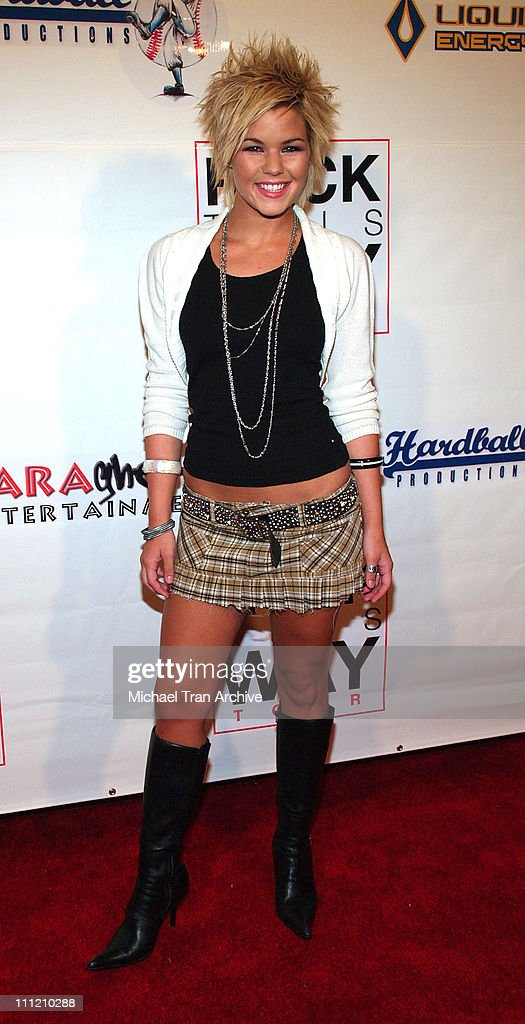 Kimberly Caldwell during 'Rock This Way' Tour Arrivals August 24 2005 at Avalon Nightclub in Hollywood California United States