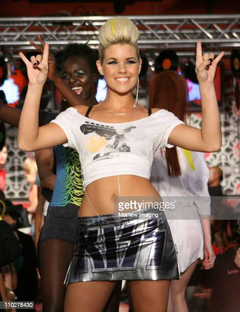 Kimberly Caldwell wearing Virgin's 2006 Line during Virgin Girl Rocks Fashion Backstage First Looks and Show at Virgin Megastore in Los Angeles...
