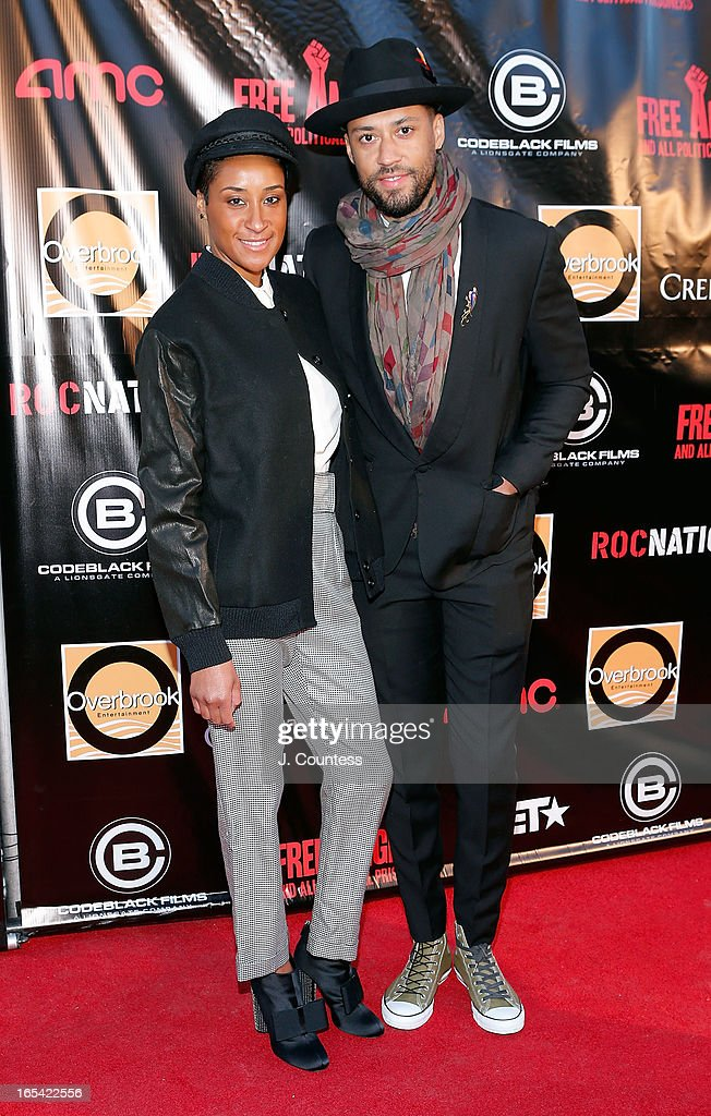 Kimberly Chandler and Browne Andrews attend the 'Free Angela and All Political Prisoners' New York Premiere at The Schomburg Center for Research in Black Culture on April 3, 2013 in New York City.