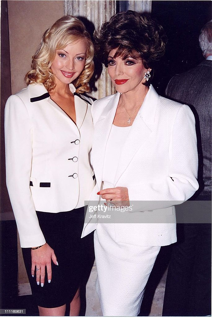 Kimberly Davies & Joan Collins during Pacific Palisades - Premiere Party in Los Angeles, California, United States.