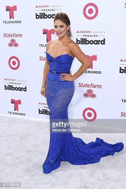 Kimberly Dos Ramos arrives at 2015 Billboard Latin Music Awards presented bu State Farm on Telemundo at Bank United Center on April 30 2015 in Miami...