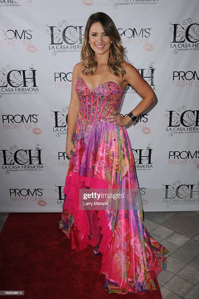 Kimberly Dos Ramos attends Prom's Night Out At La Casa Hermosa on February 1, 2013 in Wellington, Florida.