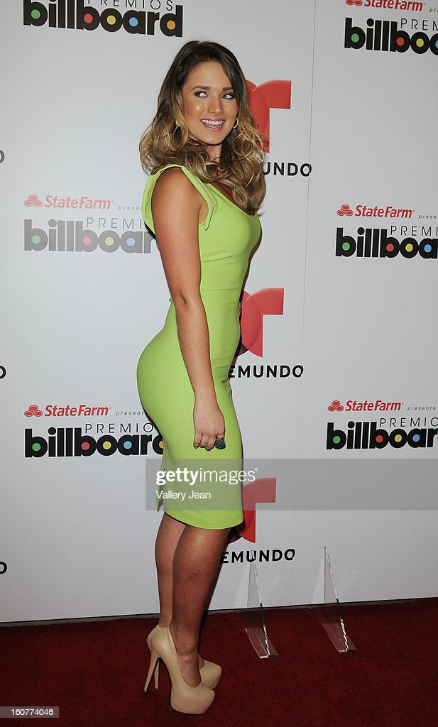 Kimberly Dos Ramos attends Telemundo and Premios Billboard 2013 Press Conference at Gibson Miami Showroom on February 5, 2013 in Miami, Florida.