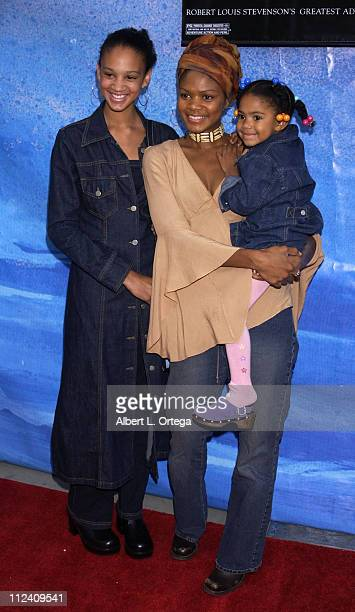 Kimberly Elise and daughter during 'Treasure Planet' Premiere at The Cinerama Dome in Hollywood California United States