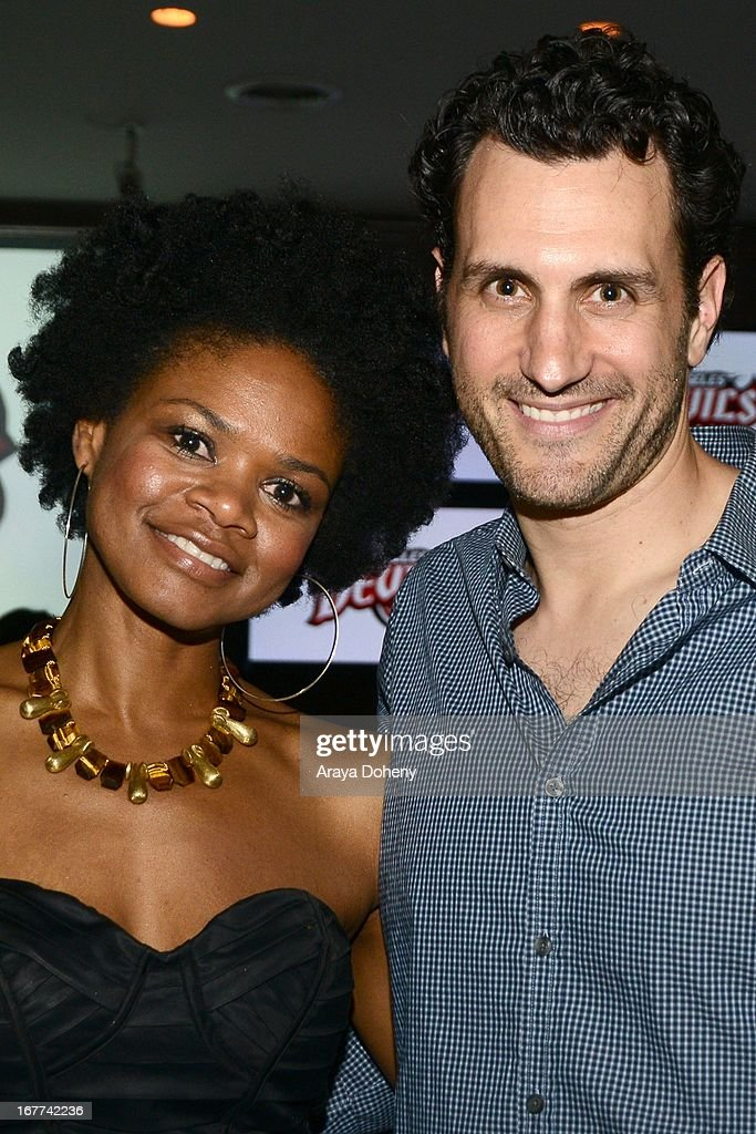 <a gi-track='captionPersonalityLinkClicked' href=/galleries/search?phrase=Kimberly+Elise&family=editorial&specificpeople=211117 ng-click='$event.stopPropagation()'>Kimberly Elise</a> and James LaRosa attend VH1's 'Hit the Floor' Wrap Party on April 28, 2013 in Los Angeles, California.