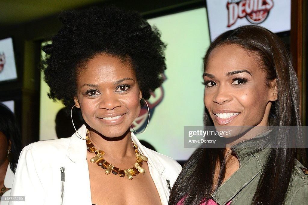 <a gi-track='captionPersonalityLinkClicked' href=/galleries/search?phrase=Kimberly+Elise&family=editorial&specificpeople=211117 ng-click='$event.stopPropagation()'>Kimberly Elise</a> and Michelle Williams attend VH1's 'Hit the Floor' Wrap Party on April 28, 2013 in Los Angeles, California.