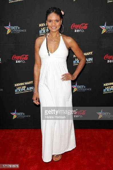 Kimberly Elise attends the 'Kevin Hart Let Me Explain' Los Angeles premiere at Regal Cinemas LA Live on June 27 2013 in Los Angeles California
