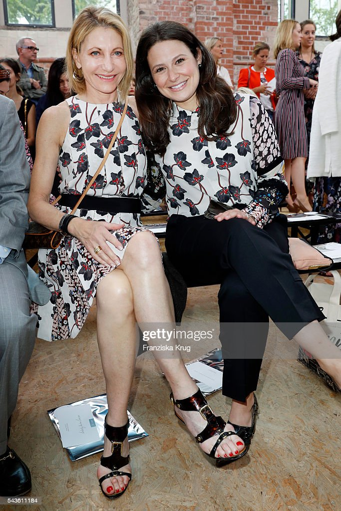 Kimberly Emerson (L) and <a gi-track='captionPersonalityLinkClicked' href=/galleries/search?phrase=Katie+Lowes&family=editorial&specificpeople=5527804 ng-click='$event.stopPropagation()'>Katie Lowes</a> attend the Dorothee Schumacher show during the Mercedes-Benz Fashion Week Berlin Spring/Summer 2017 at Elisabethkirche on June 29, 2016 in Berlin, Germany.