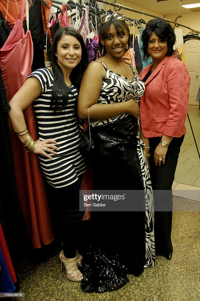 Kimberly Gambale, Jennifer Foster and Diane Scali attends the Jersey Girls Make New York Prom Dreamss Come True event at Cameo Cleaners on May 20, 2010 in New York City.
