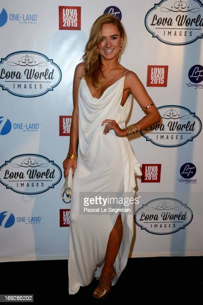 Kimberly Gardner attends the Lova World Images Closing Party during the 66th Annual Cannes Film Festival at Baoli Beach on May 22 2013 in Cannes...