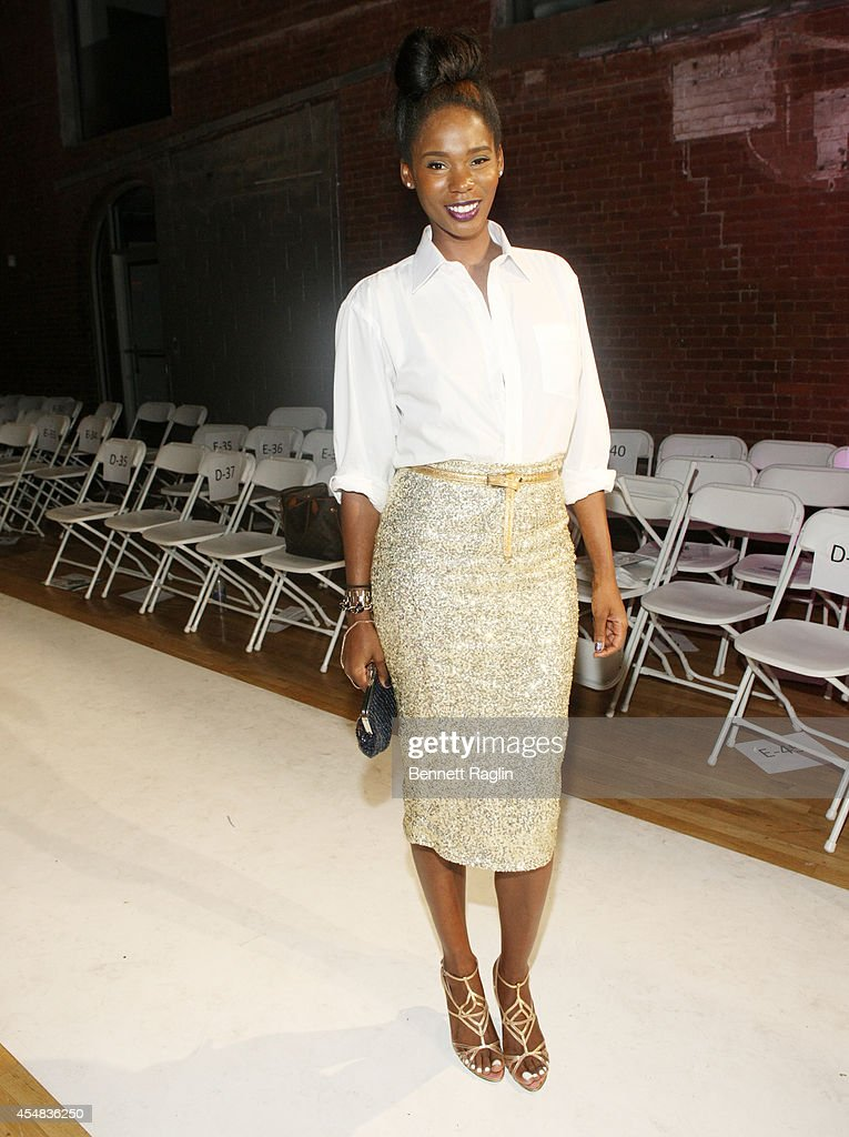 Kimberly Goldson attends Harlem's Fashion Row 7th Annual Fashion Show And Style Awards at The Waterfront on September 6 2014 in New York City