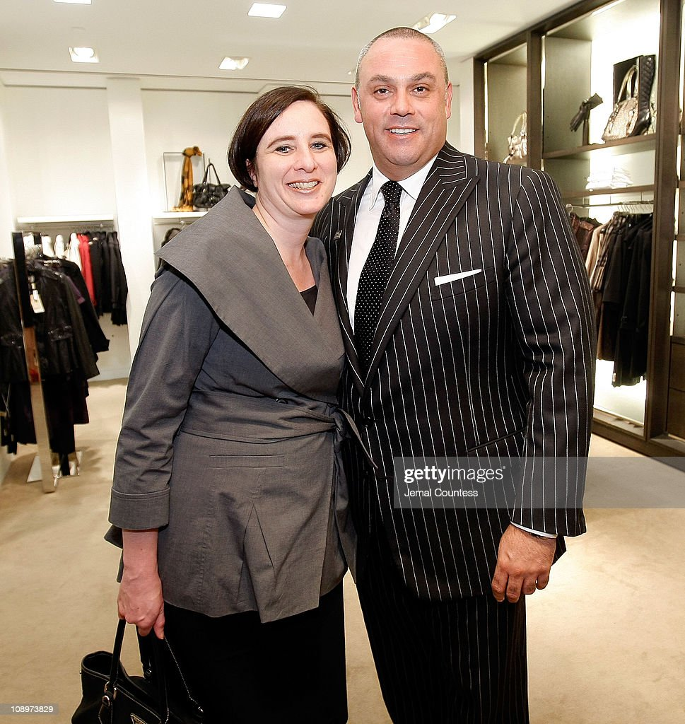 Kimberly Grabel, Sr. VP of Marketing and John Cruz of Saks Fifth Ave with the Saks & Harper's Bazaar Celebration of Falls Most Elevated Collections on Two at Saks Fifth Avenue on September 25, 2008 in New York City.