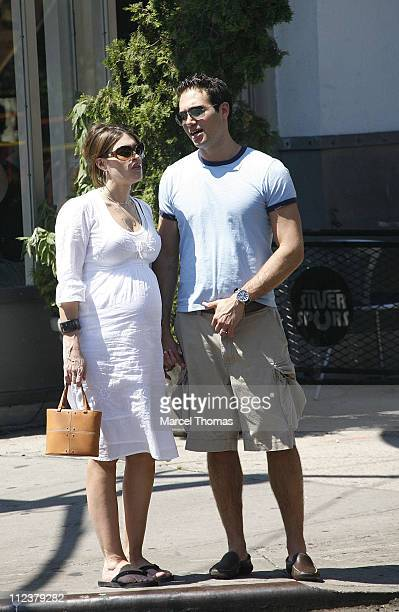 Kimberly Guilfoyle and husband Eric Villency during Kimberly Guilfoyle and Husband Eric Villency Sighting in Soho After Lunching at Bar Pitti...