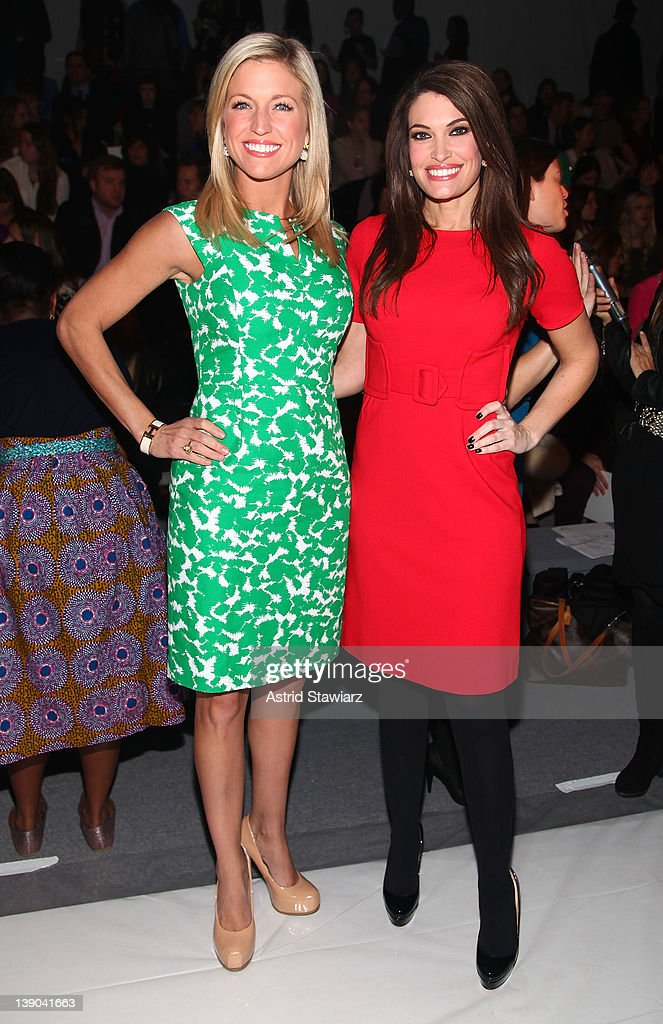 <a gi-track='captionPersonalityLinkClicked' href=/galleries/search?phrase=Kimberly+Guilfoyle&family=editorial&specificpeople=240297 ng-click='$event.stopPropagation()'>Kimberly Guilfoyle</a> and television personality Ainsley Earhardt attend the Milly By Michelle Smith Fall 2012 fashion show during Mercedes-Benz Fashion Week at The Stage at Lincoln Center on February 15, 2012 in New York City.