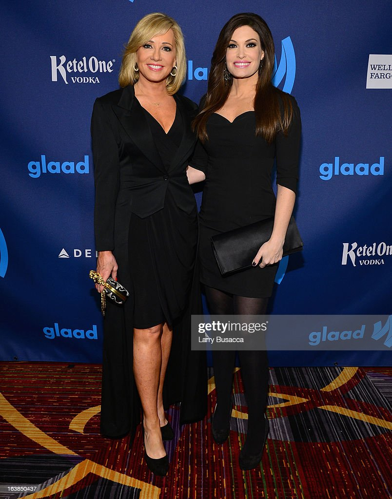 Kimberly Guilfoyle (R) attends the 24th Annual GLAAD Media Awards on March 16, 2013 in New York City.