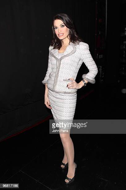 Kimberly Guilfoyle attends the Douglas Hannant Fall 2010 during MercedesBenz Fashion Week at the Kaye Playhouse on February 17 2010 in New York City