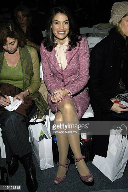 Kimberly Guilfoyle during Olympus Fashion Week Fall 2006 Chaiken Front Row and Backstage at The Atlier Bryant Park in New York City New York United...