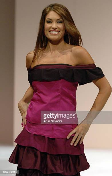 Kimberly Guilfoyle Newsom in Mel Rose Design during San Francisco Fashion Week 2005 Mel Rose Runway at Palace of Fine Arts in San Francisco...